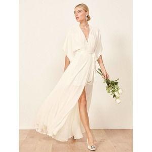 Reformation Winslow Dress Ivory Maxi Bridal Xsmall